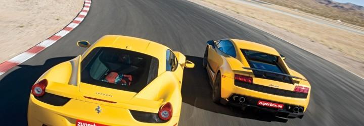 Kör Ferrari & Lamborghin upplevelse present